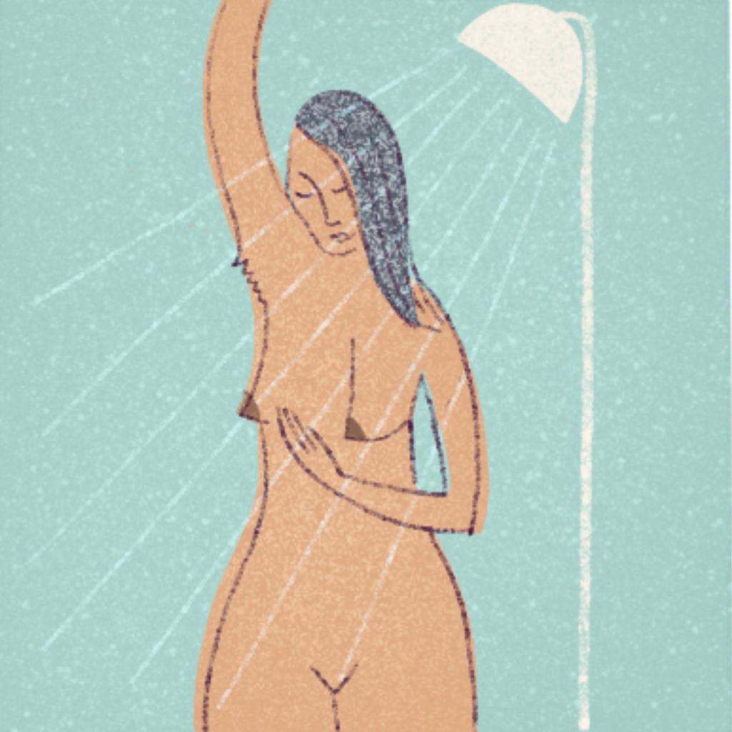 Go into the shower, when your skin is wet it will be easier to spot any lump