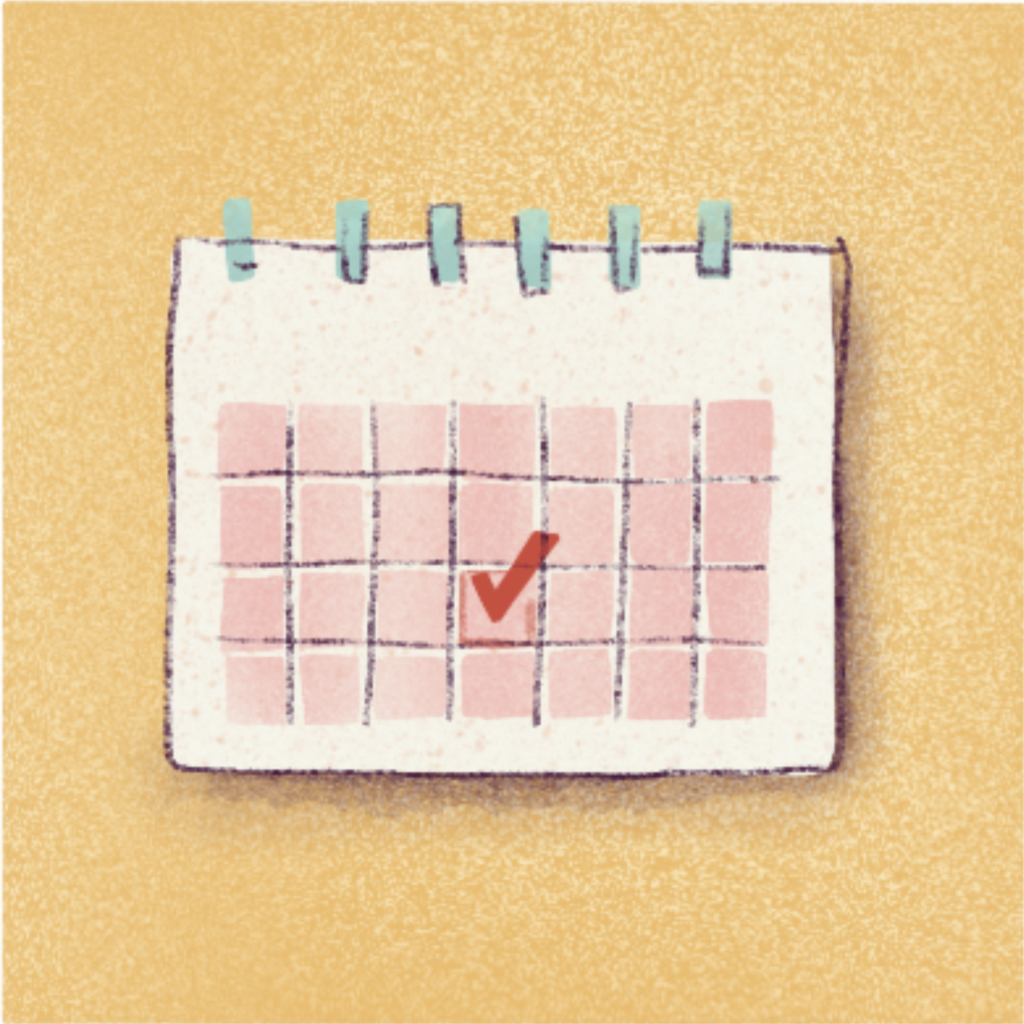 Calendar - choose one day of the month